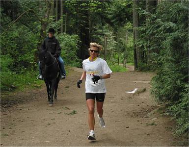 2002 Elk/Beaver Ultras - Alexandra Watson leads the women's 100K