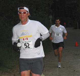 2002 Elk/Beaver Ultras - Dave Cressman leads Andy Nichol after 10K