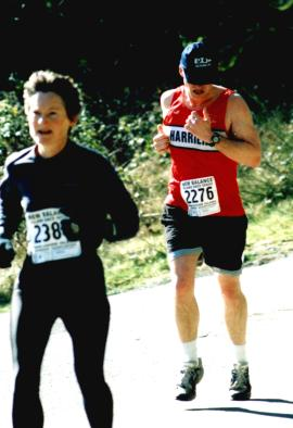 2002 Hatley Castle 8K - Dr. Thin, Terry Turcotte, most improved runner in 2002