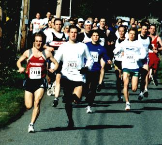 2002 Hatley Castle 8K - Osaduik leads the field away from the gun