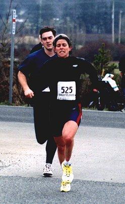 2002 Pioneer 8K - Lisa Bentley ahead of Mike Coey