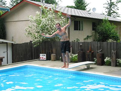 2002 Pool Party - Terry hams it up