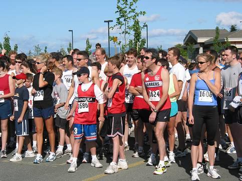 2002 Sidney Days 5K - Eager runners await the start