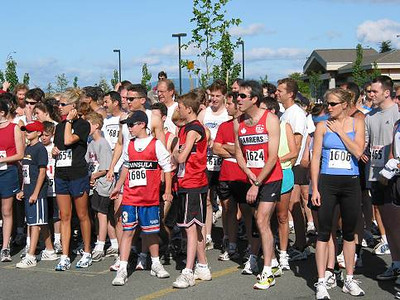2002 Sidney Days 5K - Eager runners await the start