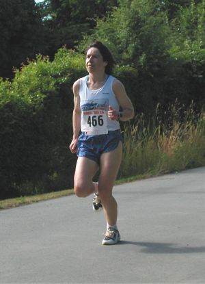 2002 Sidney Days 5K - Susan Williams - 2nd in the women's masters to Sheron Chrysler