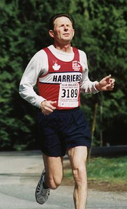 2002 Sooke River 10K - Karl Benn - incredible character in the face of pain