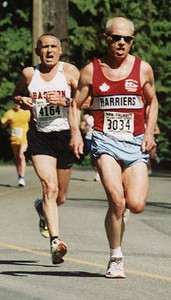 2002 Sooke River 10K - Two top Bills, Scriven and Hollingshead