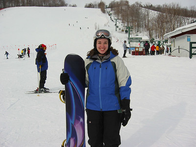 20020119 Stowe Snowboarding Andrew and Crystal
