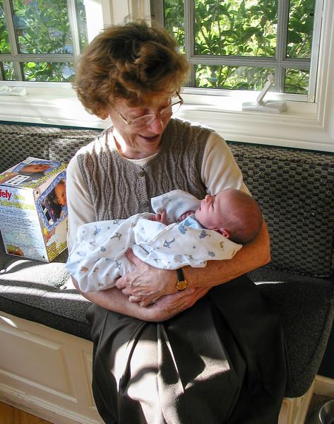Grandma José holding baby Joey