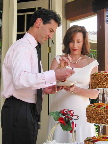 Sampling the wedding cake