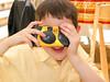Benjamin with a camera