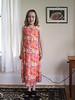 Isabel trying on her flower-girl dress for Aunt Caroline's upcoming wedding