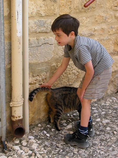 Benjamin and cat