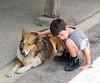 Benjamin and dog