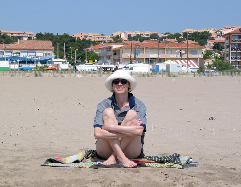 Chantal on the beach