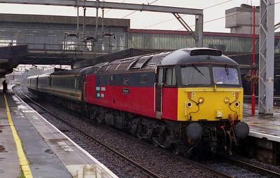 Cleared at last! My final RES '47' for a thousand miles pauses at Stafford with 1G11 1402 Holyhead-Birmingham (06/09/2002)