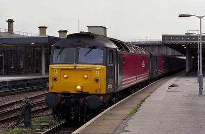 I've never really been into high-profile send-offs, so fittingly on home soil this was to be my last run behind a '47' on a Cross Country turn. 47810 'Porterbrook' is seen here departing Sheffield with 1M80 1604 Newcastle-Birmingham (04/08/2002)