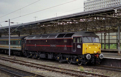 Later that evening 'Prince William' departs Crewe in the early evening gloom with the return 1D82 1744 Birmingham New Street-Holyhead (05/09/2002)