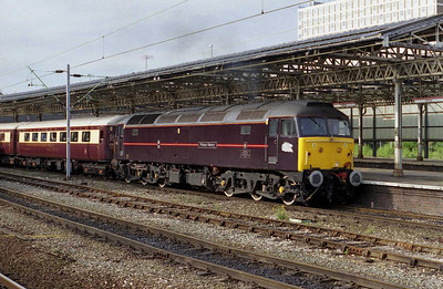 An immaculate 47799 'Prince Henry' departs Crewe with an as yet unidentified Northern Belle charter (26/08/2002)