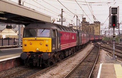 A timeless scene as 47810 'Porterbrook' arrives back into Newcastle from Heaton with the empty stock for the return 1M80 1604 to Birmingham New Street (04/08/2002)