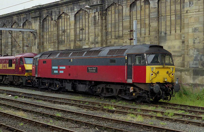 Also at Carlisle was EWS 47756 'Royal Mail Tyneside', stabled in the sidings behind platform 1 (10/08/2002)