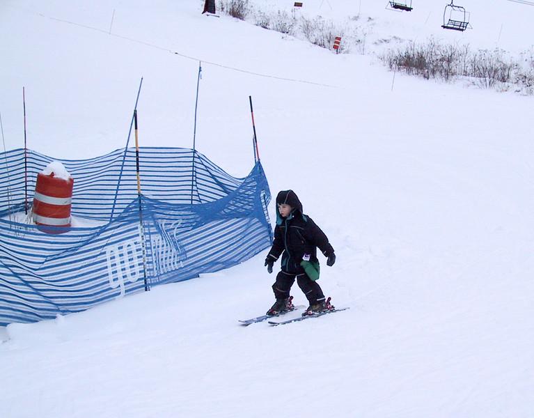 Benjamin on the slope
