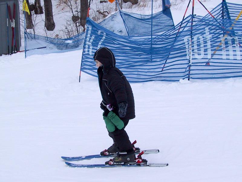 Benjamin skiing
