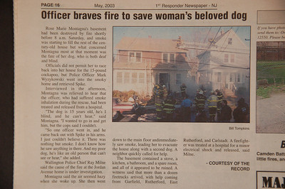 1st Responder Newspaper - May 2003