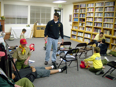 3/17/2003 - First Aid Merit Badge - CPR Trainig