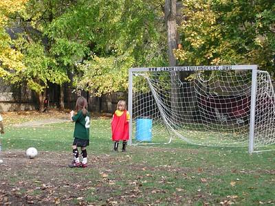 Rachael in goal