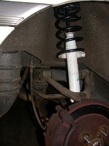 rear suspension done
