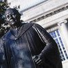 T98-98-16<br /> Oxley Thompson Statue<br /> 10-1-98<br /> Jo McCulty photo