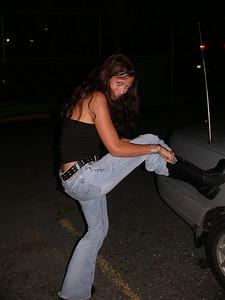 Rose demonstrates her alaska boots