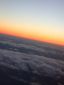 plane rides provide the best sunsets