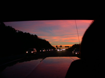 nice sunset on the way back