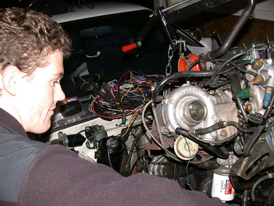 phillip helps the engine clear the rad support