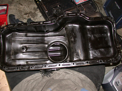 oil pan ready to install