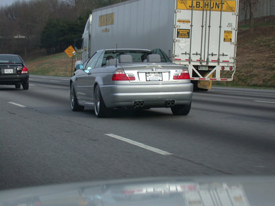 Some guys in an M3 looking really cool