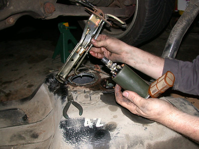 removing stock fuel pump