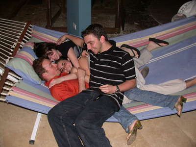 i'm not entirely sure what's going on here, but chris has 3 hot people on him so he shouldn't be complaining