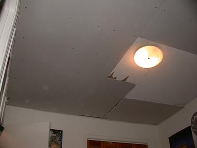 Ceiling repair underway