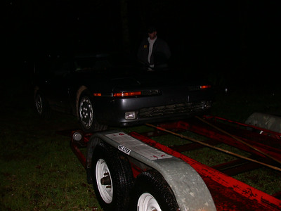 loading the grey '89T on the trailer