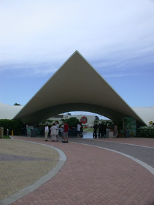 Pavillion (shaped like a stylized bat)