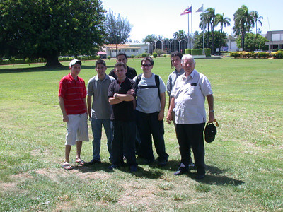 The group on the Bacardi grounds