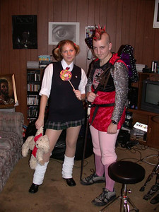 Jenn the Japanese schoolgirl and Dan the Medieval Fairy Knight (...princess gay satan)
