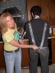Mmm, duct tape thong.