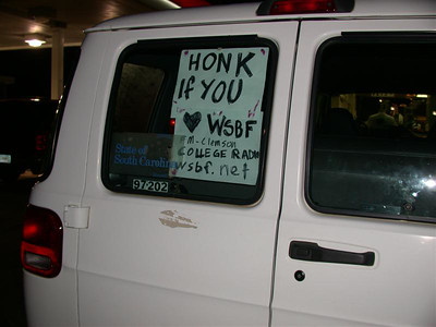 Two people honked before we had put up the bottom half of the sign. ''Honk if you'? Hell yeah I do!!'