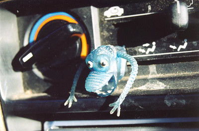 (Finishing up the roll by documenting the monsters in my car)
