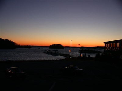Sunset on the marina