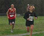 2003 Cedar 12K - Graeme Benn chases Helena to the Finish